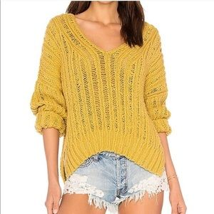 Free People Infinite V-neck Sweater Oversized Cozy